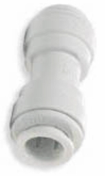 "PP0408W / John Guest 1/4"" (OD) Straight Union Connector (White Polypropylene)"