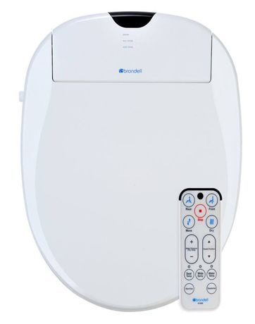 Brondell Swash SW1000-EB Biscuit Electric Bidet Toilet Seat