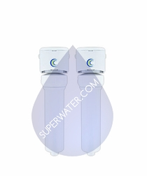 W9332429 AquaCera EcoFast Twin Quick Change Filter System With Install Kit (Multimedia and CeraCarb Cartridges)