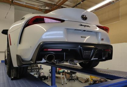 "2020 A90 MKV Supra Single Exit 3.5"" Cat-Back Exhaust by SupraStore.com STREET EDITION"