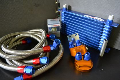 SupraStore 2JZGTE Oil Cooler and Filter Relocation Kit Toyota Supra Dash -10 Sized! FREE SHIPPING *