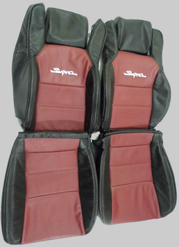 Toyota Supra MKIII Mk3 Leather Front Seat Cover Upholstery Kit Synthetic or Genuine Leather
