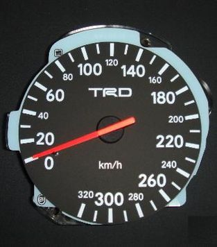 NO LONGER AVAILABLE TRD Toyota Supra Speedometer S1 Right Hand Drive 1993-1996 - DISCONTINUED