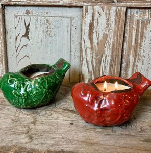 30% Off Out of Season Holiday Bird Pottery