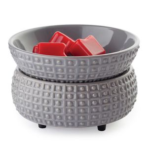 Ceramic Warmer & Dish Slate