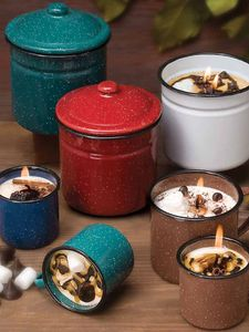 Enamelware Candles