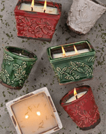 Holiday Pottery Candles