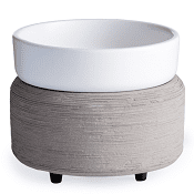 **NEW** Ceramic Warmer & Dish Gray Texture
