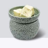 Sage/Floral Wax Melter with Dish