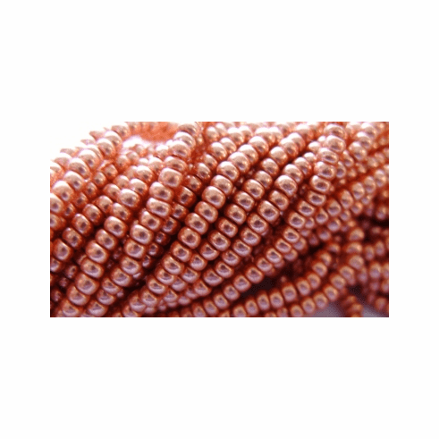10/0 Copper Coated Crystal Seed Bead