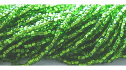 10/0 Silver Lined Mint Seed Bead