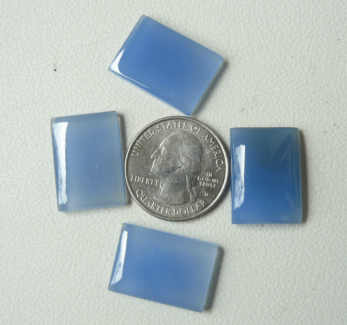 16x22 Rectangle Cabochons Blue Chalcdony