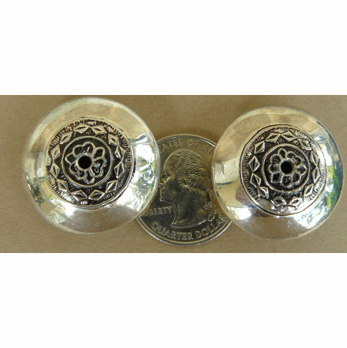 2 Sterling Silver focal Beads 28x13mm 2 Beads  B203