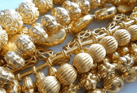 Beads - 24kt Gold Over Copper -