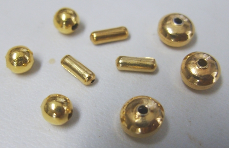 Smooth Beads - 24Kt Gold Copper Core -