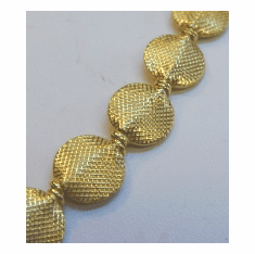 24KT. GOLD OVER COPPER CORE BALI STYLE BEAD GCBKSP37