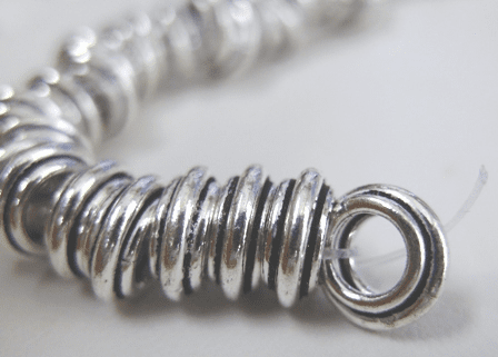 3-Layer Large-hole Ring Spacer - 9mm - .999 Pure Silver Over Copper<br>SCBKP54