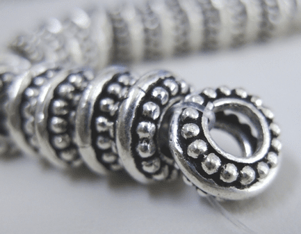 3-Layer Large-Hole Spacer - 12mm - .999 Pure Silver Over Copper<br>SCBKP03