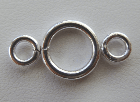 3-ring Connector- 999 Pure Silver Over Copper<br>SCBK132