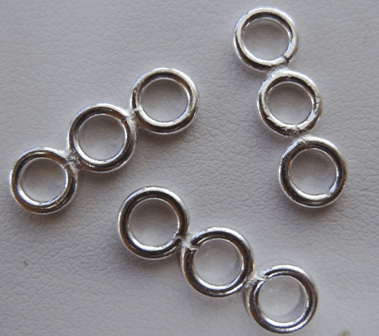 3-Ring Connector- 999 pure silver Over Copper SCBK272
