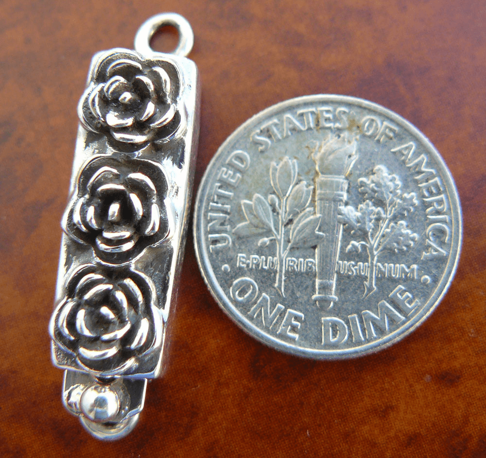 3-Rose Clasp - 1 Clasp - Sterling Silver<br>CL-9