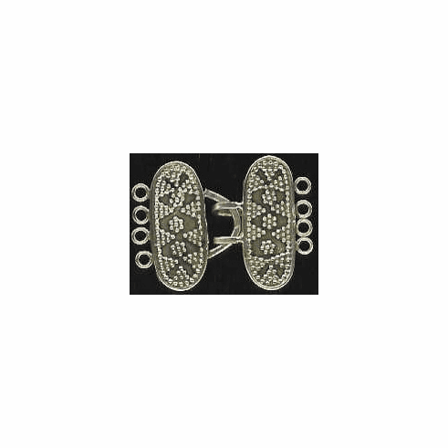 4 Strand Toggle - 10x25mm - 1 Clasp - Sterling Silver<br>T-13-4