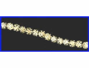 4mm Diamond Cut Frosted Round Beads