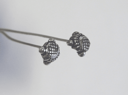 """5mm Fancy Head Pin 3"""" - 5mm - 45 Pieces - .999 Silver Over Copper"""