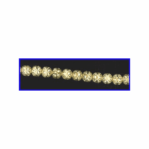 6mm Diamond Cut Frosted Round Beads