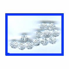 6mm Swarovski Crystal Faceted Rounds 12 Pack