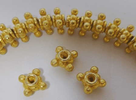 7mm Bali-style Spacer-24Kt Gold Over Copper GCBK130