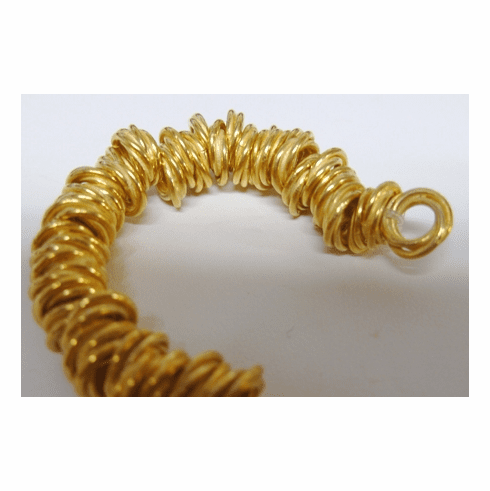 """8mm twisted gold over copper spacer beads 8"""" strands 80+ beads"""
