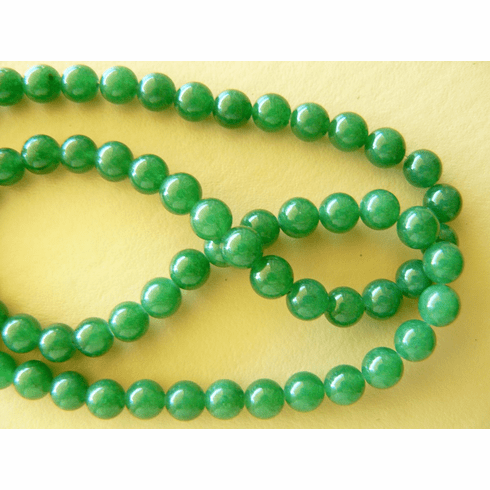 """Agate green beads 6mm round 16"""" strands"""