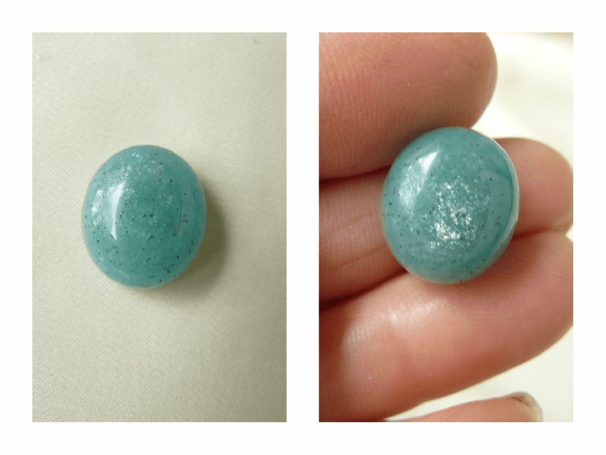 Amazonite 14x16mm Cabochons matching set You get 2 cabs