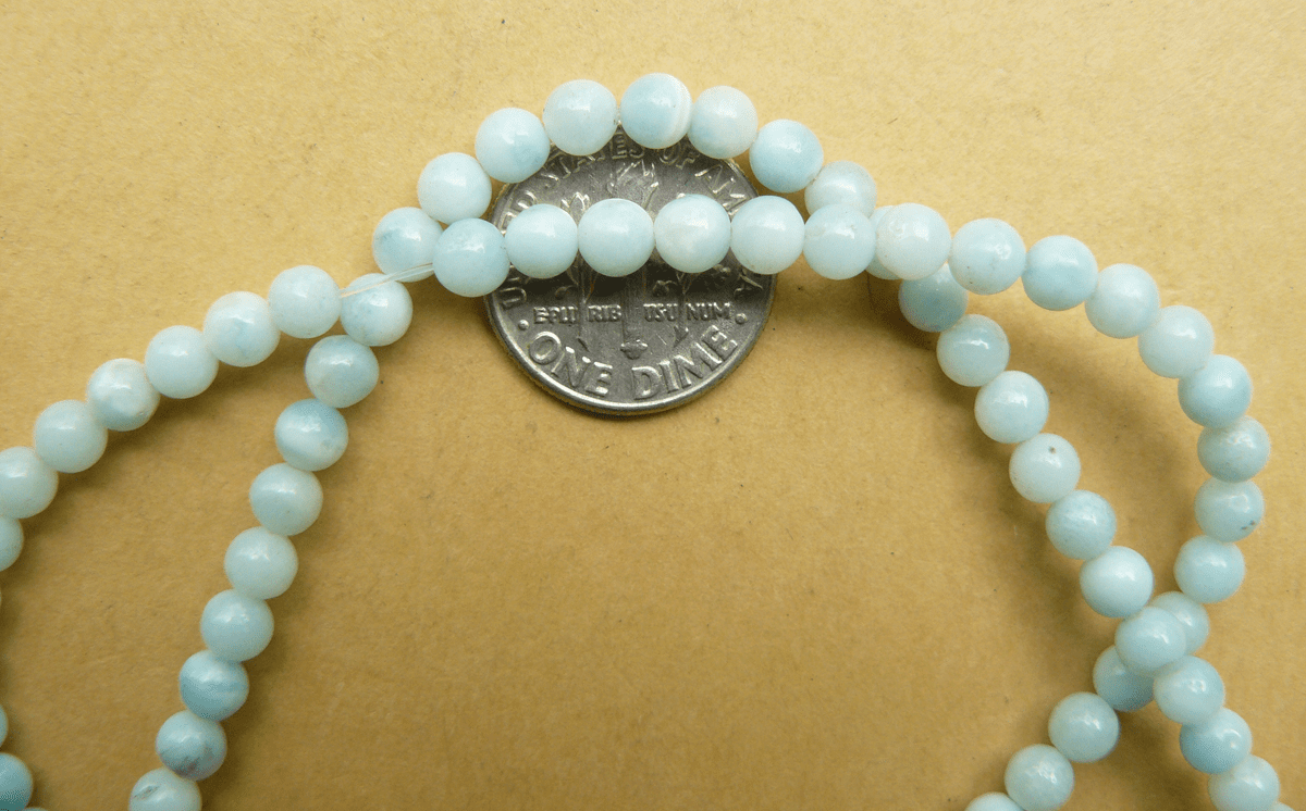 "Amazonite 4mm Round Beads Blue 16"" Strands"