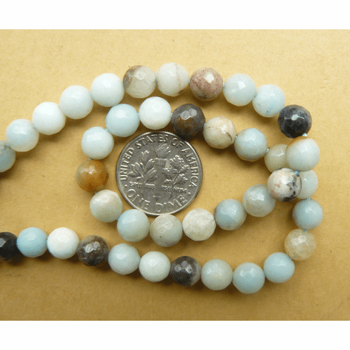 Amazonite Faceted Beads 6mm Round 16 inch strands