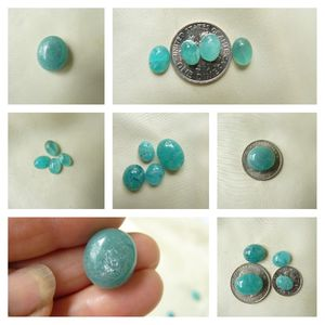 Amazonite Premium color Cabochons matching sets