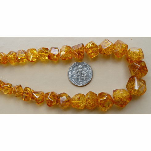 """Amber graduated Cognac nuggets 6 to 12 mm 17 """"over 60 beads"""