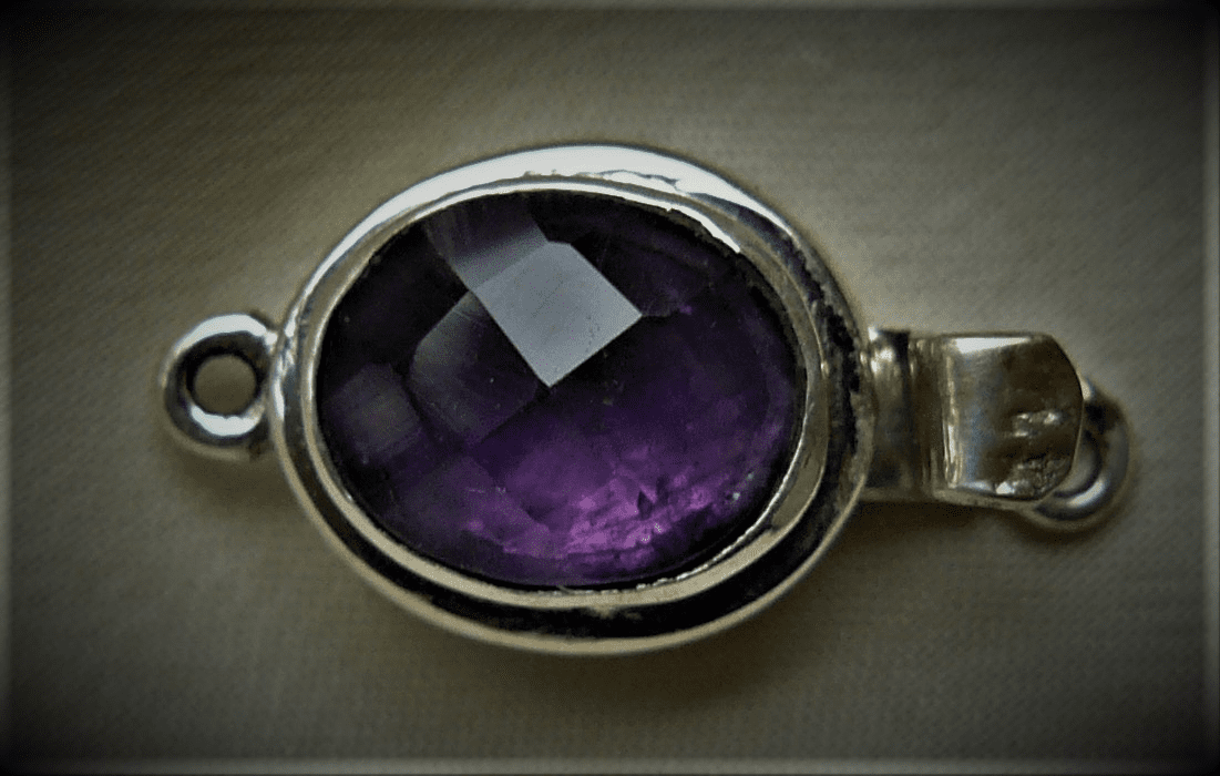 Amethyst Clasp Set in Sterling Silver
