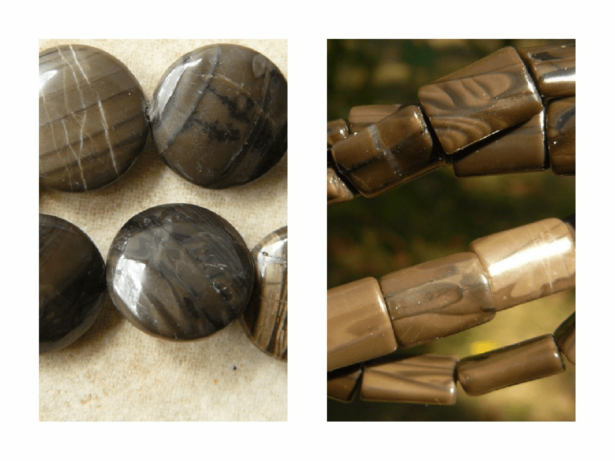 Antique Black Jasper Beads