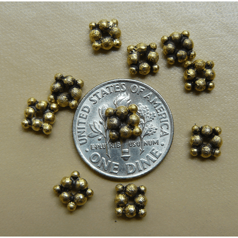 Antique Gold Beads Bonded over copper 6x2.5mm 40+ beads