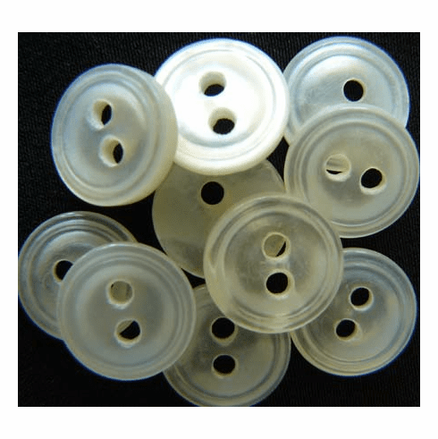 Antique Mother of Pearl Buttons 10MM  10 buttons per pack Grooved  BU-4