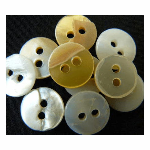 Antique Mother of Pearl Buttons 10MM  BU-10