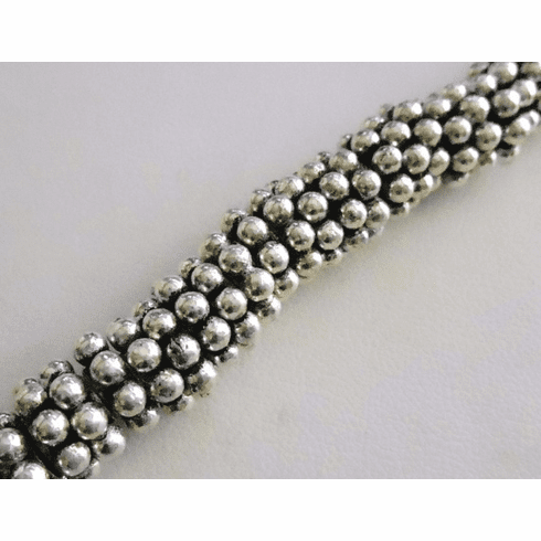Antiqued Daisy Spacer - 10mm - 15 Beads - .999 Silver Over Copper<br>SCBK24-10