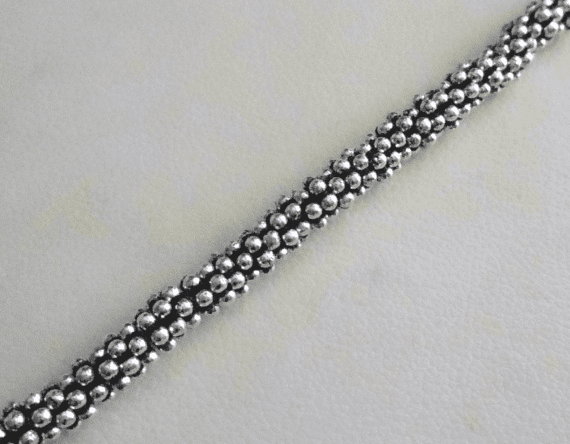 Antiqued Daisy Spacer - 3mm - Aprx 155 Beads - .999 Silver Over Copper <br>SCBK24-3