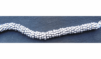 Antiqued Daisy Spacer - 4mm - Over 145 Beads - .999 Silver Over Copper <br>SCBK24-4