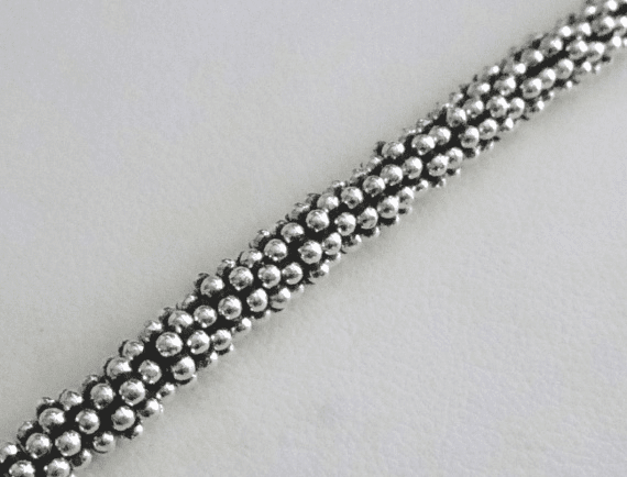 Antiqued Daisy Spacer - 5mm - 80+ Beads - .999 Silver Over Copper <br>SCBK24-5