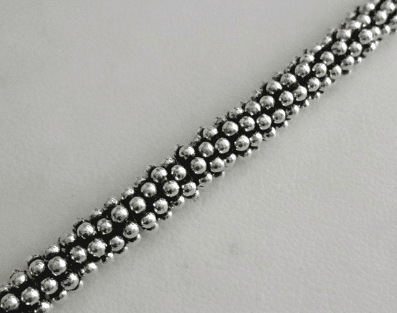 Antiqued Daisy Spacer - 6mm - Over 100 Beads - .999 Silver Over Copper <br>SCBK24-6