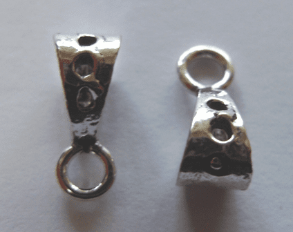Bail - 5x12mm - 12 Pieces - .999 Silver Over Copper