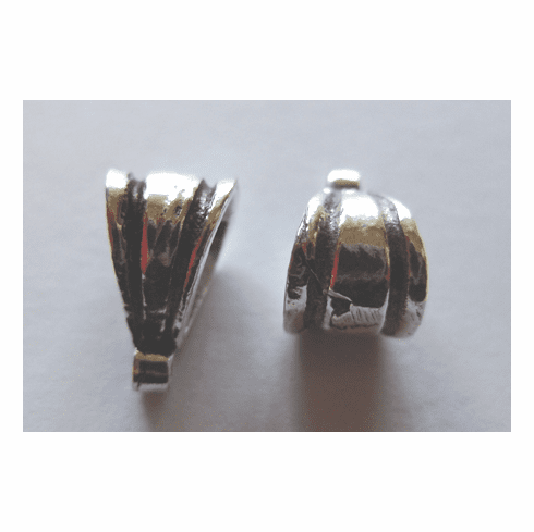 Bail - 7x12mm - 6 Pieces - .999 Silver Over Copper